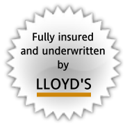 Fully insured and underwritten by Lloyd's
